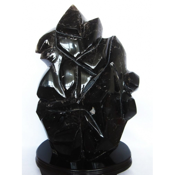 43.3Kg 黒水晶 原石 同梱不可  morion [T43-5375] (配送日程要相談品)
