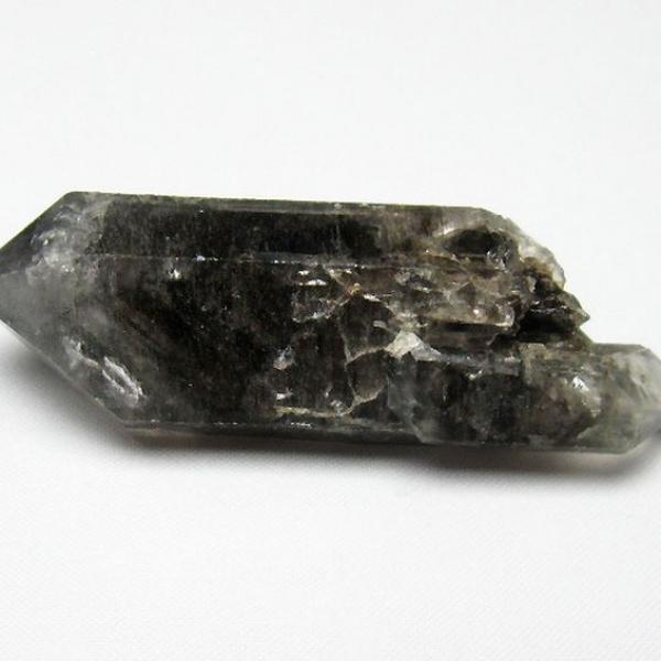 スティブナイト(輝安鉱)入り  ハーキマーダイヤモンド水晶 原石[T443-4285]