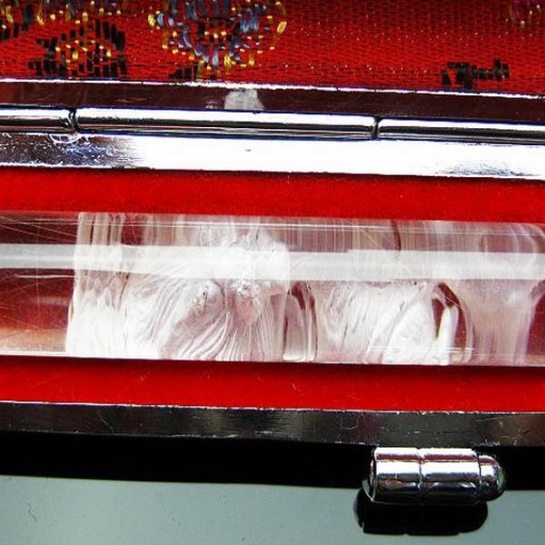 ルチル水晶 中彫り 龍 印材 12mm ※別途料金で篆刻可能[T45-71]
