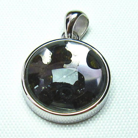 パラサイト隕石 かんらん石 ペンダント [T453-2575]