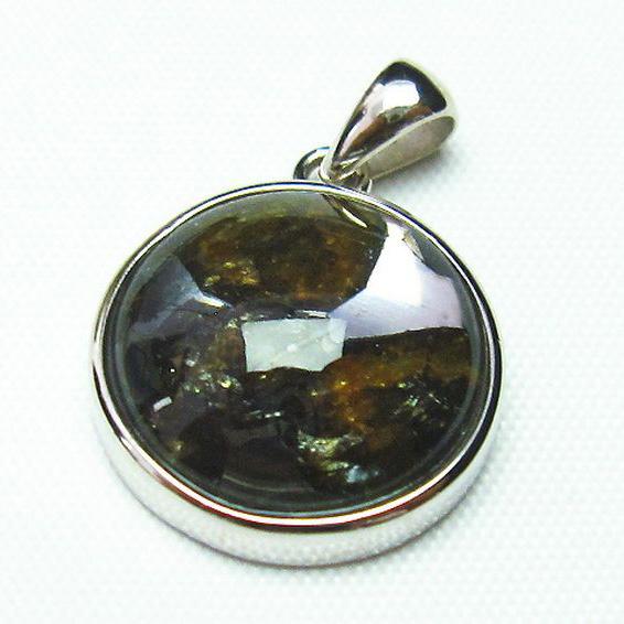 パラサイト隕石 かんらん石 ペンダント [T453-2581]