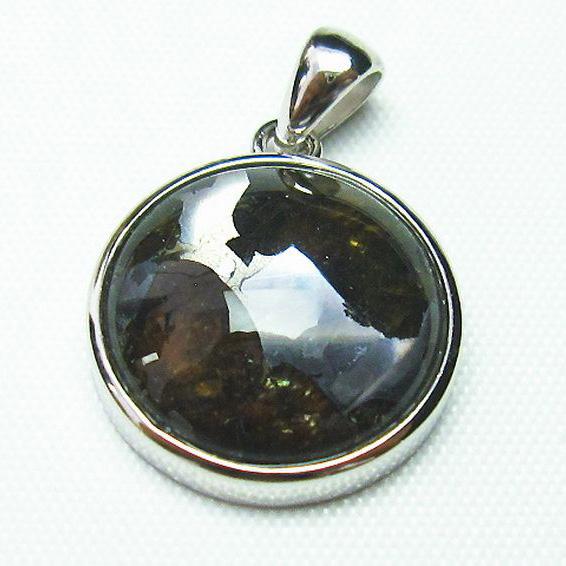 パラサイト隕石 かんらん石 ペンダント [T453-2582]