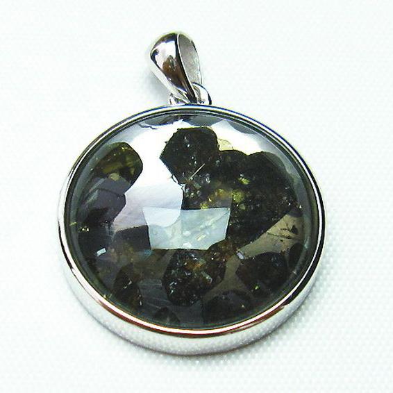 パラサイト隕石 かんらん石 ペンダント [T453-2599]