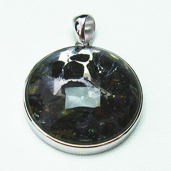 パラサイト隕石 かんらん石 ペンダント [T453-2614]