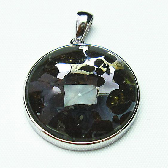 パラサイト隕石 かんらん石 ペンダント [T453-2617]