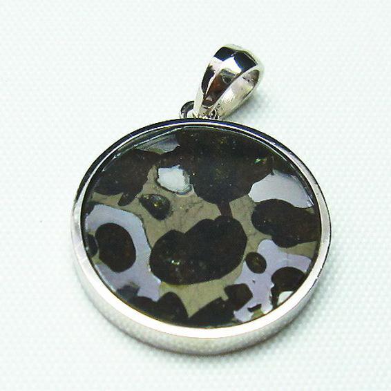 パラサイト隕石 かんらん石 ペンダント [T453-2679]