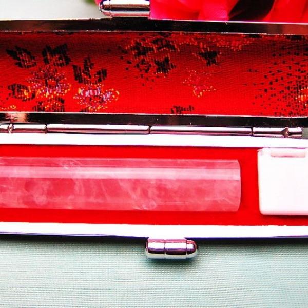 ローズクォーツ 印材 ※別途料金で篆刻可能 12mm [T46-765]