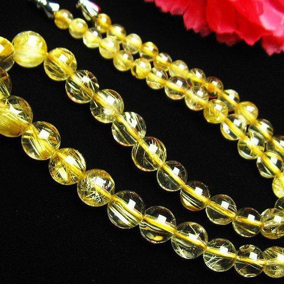 ゴールドタイチンルチル ネックレス 5mm [T498-229]