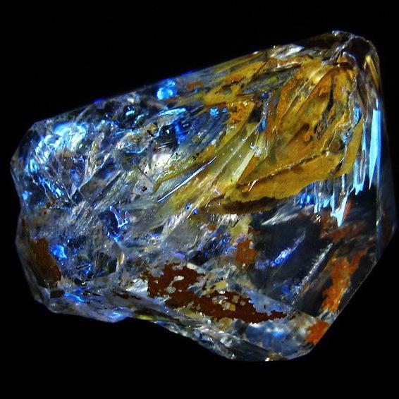 オイルイン ハーキマーダイヤモンド (石油入り ハーキマーダイヤモンド) パキスタン産 [T596-2449]