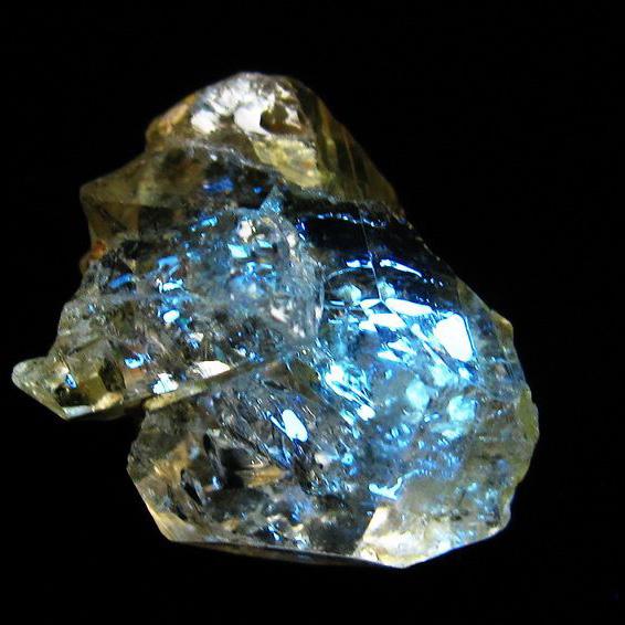 オイルイン ハーキマーダイヤモンド (石油入り ハーキマーダイヤモンド) パキスタン産 [T596-2453]