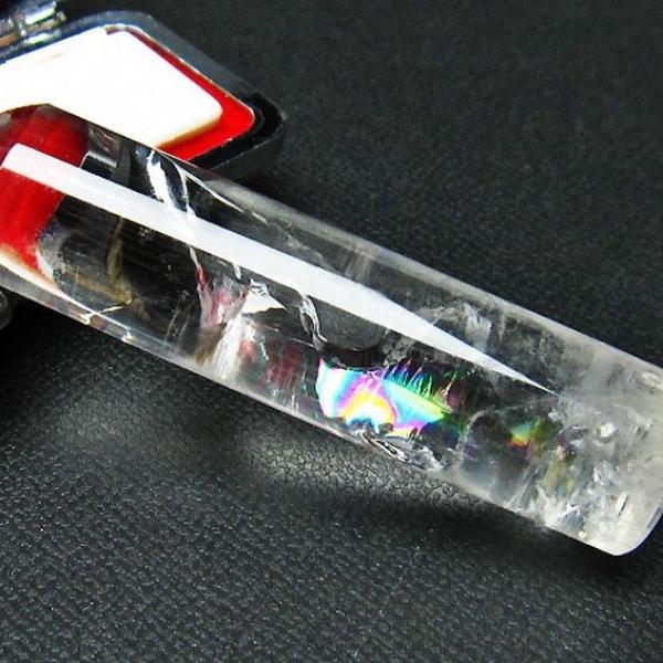 虹入り ヒマラヤ水晶 印材 ※別途料金で篆刻可能 14mm [T607-185]