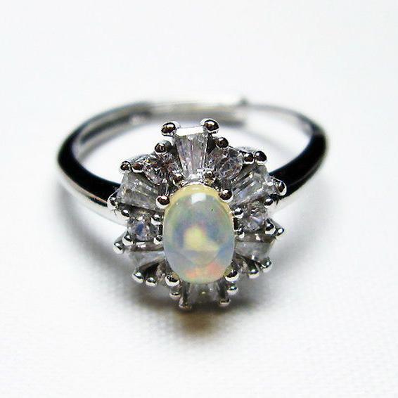 プレシャスオパール 指輪 (15号)[T674-2487]