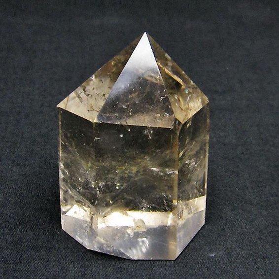 ライトニング水晶 六角柱[T705-6440]