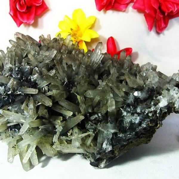 ★浄化効果★22.8Kg ライトニング水晶クラスター crystal [T726-38]
