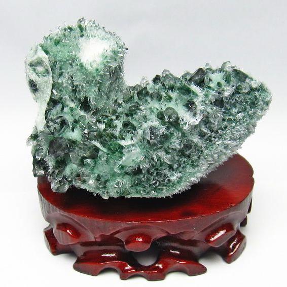 緑水晶 グリーンクォーツ クラスター[T802-1390]