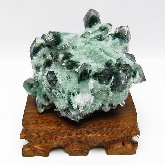 緑水晶 グリーンクォーツ クラスター[T802-1550]