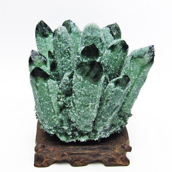 1Kg 緑水晶 グリーンクォーツ クラスター[T802-3982]
