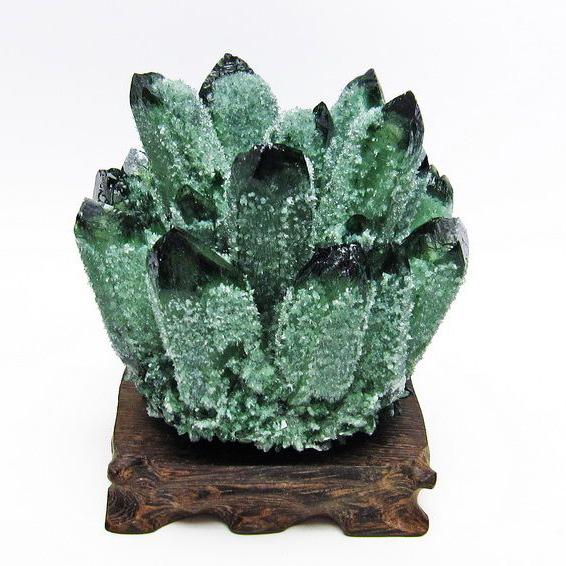 緑水晶 グリーンクォーツ クラスター[T802-3989]