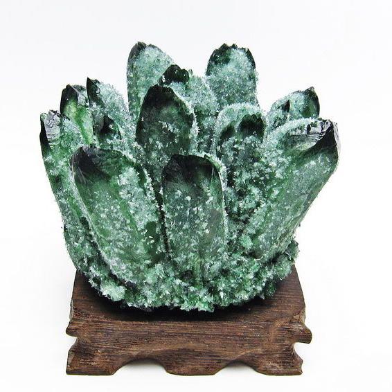 緑水晶 グリーンクォーツ クラスター[T802-3994]
