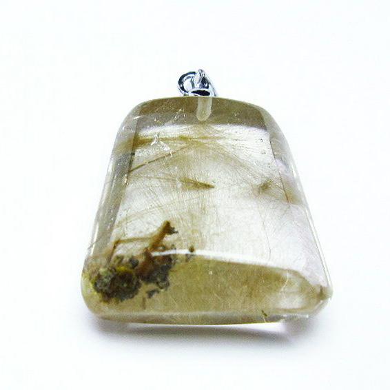 金針ルチル水晶 ペンダント [T86-5758]
