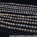 ブラックオパール 一連 ビーズ6.5mm[H54-2]