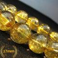 ゴールドタイチンルチル ブレスレット 17mm  [K1-1246]