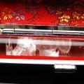 ルチル水晶 中彫り 龍 印材 12mm ※別途料金で篆刻可能[T45-34]