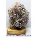 3.1Kg ブラジル ミナスジェライス産  フローライト共生水晶 原石 [T701-601]
