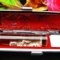 ルチル水晶 中彫 観音 観音 印材 15mm ※別途料金で篆刻可能[T71-16]