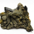 アーカンソー産 モリオン 純天然 黒水晶 レーザークリスタル クラスター[T724-1824]