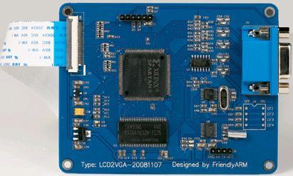 ARM用のLCDからVGAまでの変換ボード