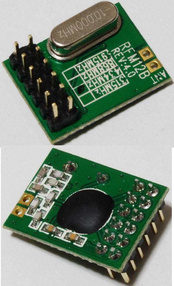 微弱無線送受信モジュールRFM12B(DIPとSMT二種類)