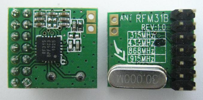 微弱無線受信モジュールRFM31B