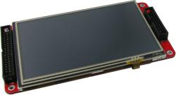 """タッチパネル付き5""""TFT液晶(FPGA/CycloneIV EP4CE15ビデオ画像処理開発ボードと直結可)"""