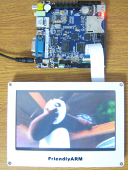 Linux/Android/WinCE/Ubuntu対応マルチ・メディアARM11ボードMini6410+LCD7(1G Nand Flash)