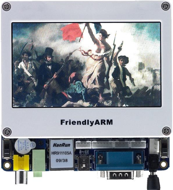 ●他社より2〜3割安い● Linux/Android/WinCE/Ubuntu対応マルチ・メディアARM11ボードMini6410+LCD4.3