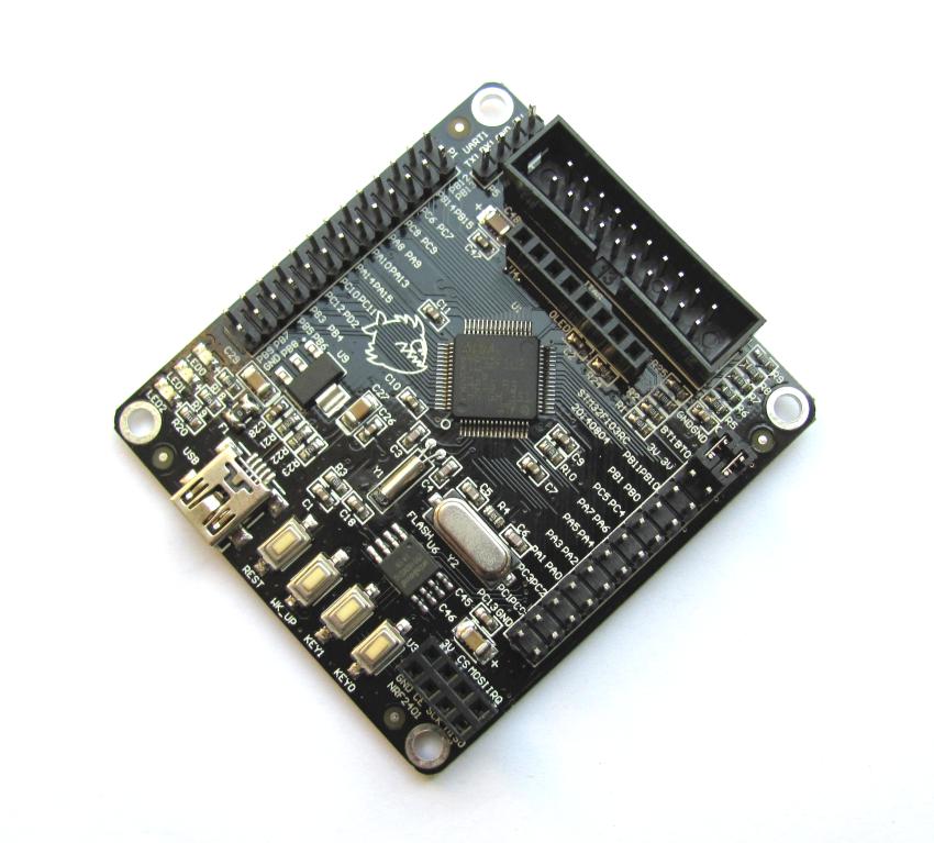 ARM Cortex-M3/Mini-STM32小型ボード(無線通信モジュールnRF24L01(2.4GHz)と直結可 )【メール便可】