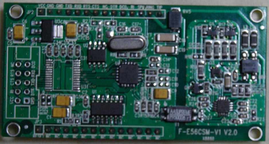 V.92対応56kbps組み込みモデム