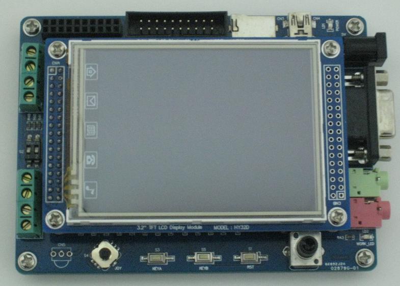 """ARM Cortex-M3/STM32-カメラI/F、MP3機能搭載開発キット(3.2""""TFT液晶タッチパネル付き)"""