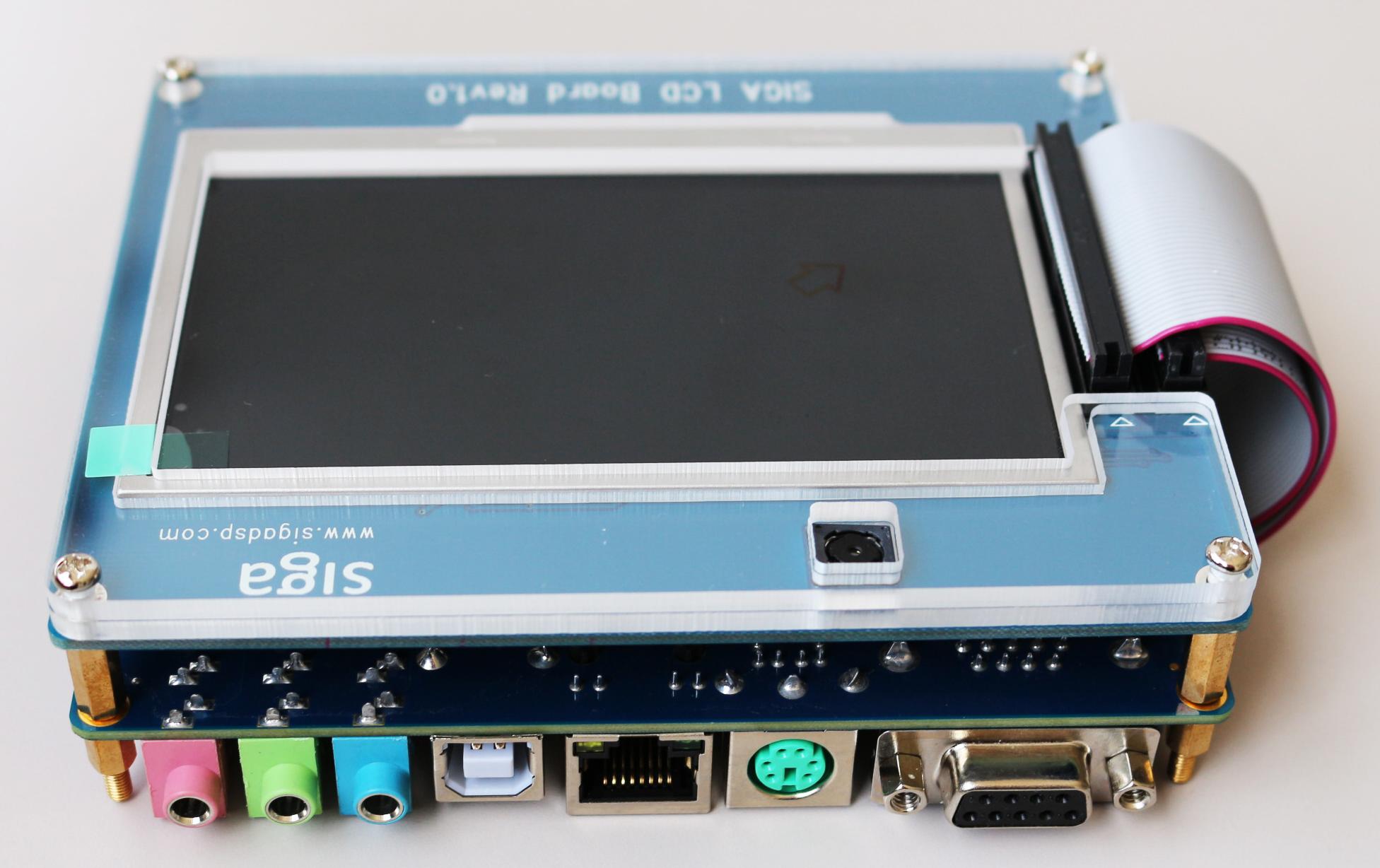 """【送料無料】Xilinx Spartan6 XC6SLX16  FPGAボード+4.3""""TFT LCDボード(500万画素OV5640カメライメージセンサー付き)"""