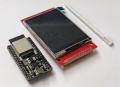 "ESP32-WROOM-32D開発ボードESP32-DevKitC-V4+タッチパネル付き2.8""TFT液晶モジュール"