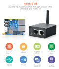 ARM/Cortex-A7・4コア H3開発ボードNanoPi_R1(Dual Ethernet Port,WiFi&BT,eMMC,USB&Serial Port for IoT)
