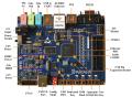 【送料無料】XilinxSpartan6 XC6SLX16 FPGAボード