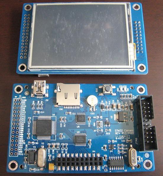 "ARM Cortex-M3/STM32カメラ用開発キット(2.8""TFT液晶タッチパネル付き)"