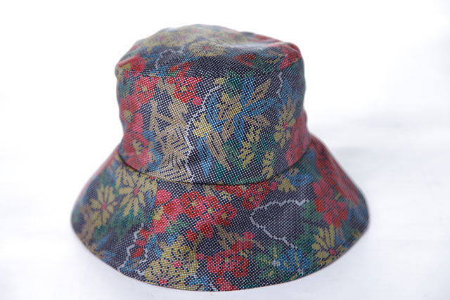 着物リメイク帽