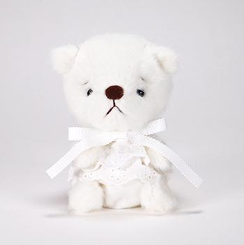 pom pom Bear しろくま ホワイトレース