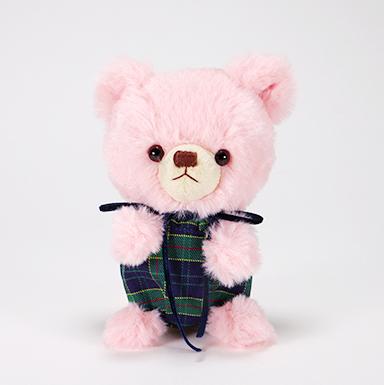 pom pom Bear メロディ ピンク グリーンチェック