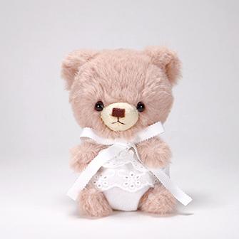 pom pom Bear メロディ ブラウン ホワイトレース