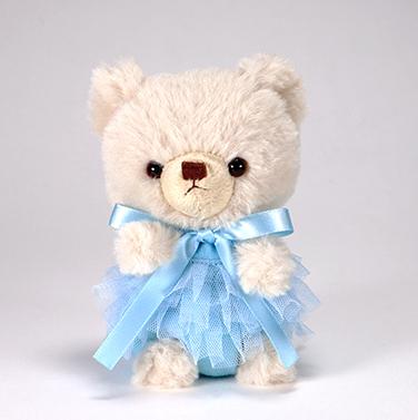 pom pom Bear メロディ ベージュ チュチュ ブルー