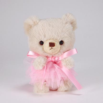 pom pom Bear メロディ ベージュ チュチュ ピンク